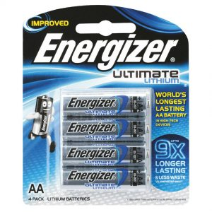 ENERGIZER AA 4 PACK ULTIMATE PHOTO LITHIUM