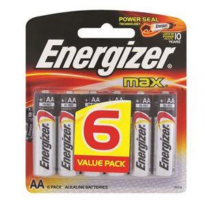 ENERGIZER AA 6 PACK ALKALINE