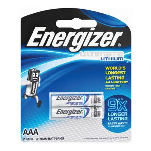 ENERGIZER AAA 2 PACK ULTIMATE PHOTO LITHIUM