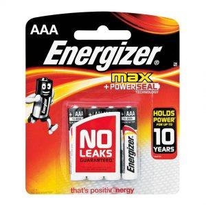 ENERGIZER AAA 4 PACK ALKALINE