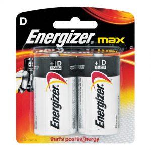 ENERGIZER D 2 PACK ALKALINE