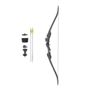 VELOCITY STAMPEDE YOUTH RECURVE BOW KIT BLACK - 20LBS RH